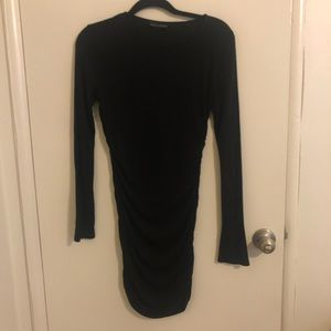 Black Ruched Dress from Zara